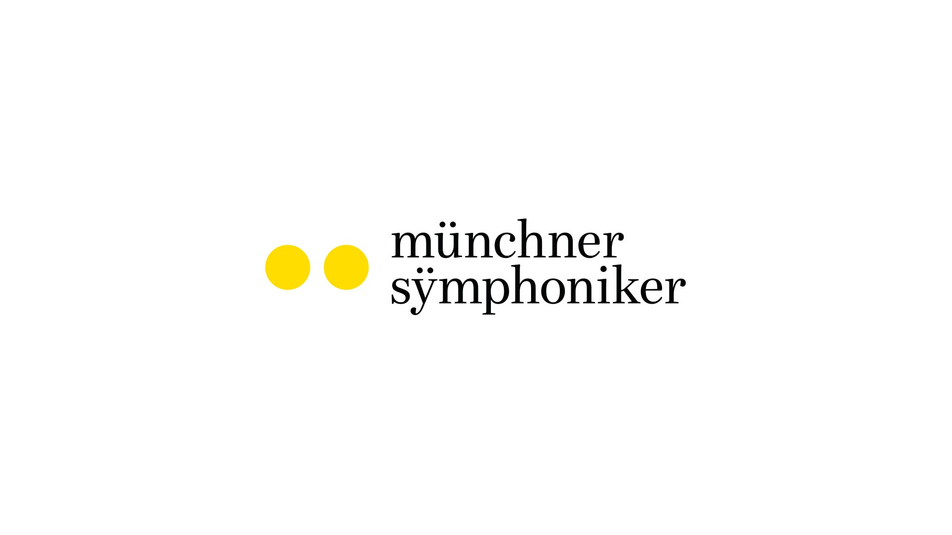 "The newly developed ""Münchner Symphoniker"" wordmark is onomatopoeia in the truest sense of the word. It emphasizes the umlaut above the ""u"", the diaeresis, to visualize the intonation of the word. The logo is reminiscent of a double beat of the drum. The type is based on ""Bressay"", a classic Antiqua typeface updated for digital use. It features charming drop-shaped accents, creating a playful, yet elegant look."