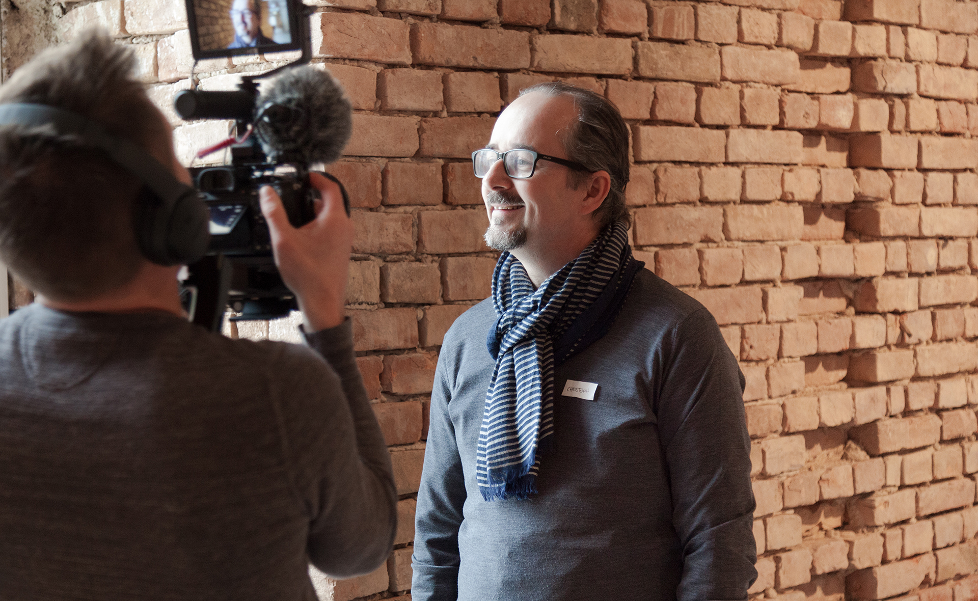 Blackspace's Christoph Rohrer laughs during an interview.