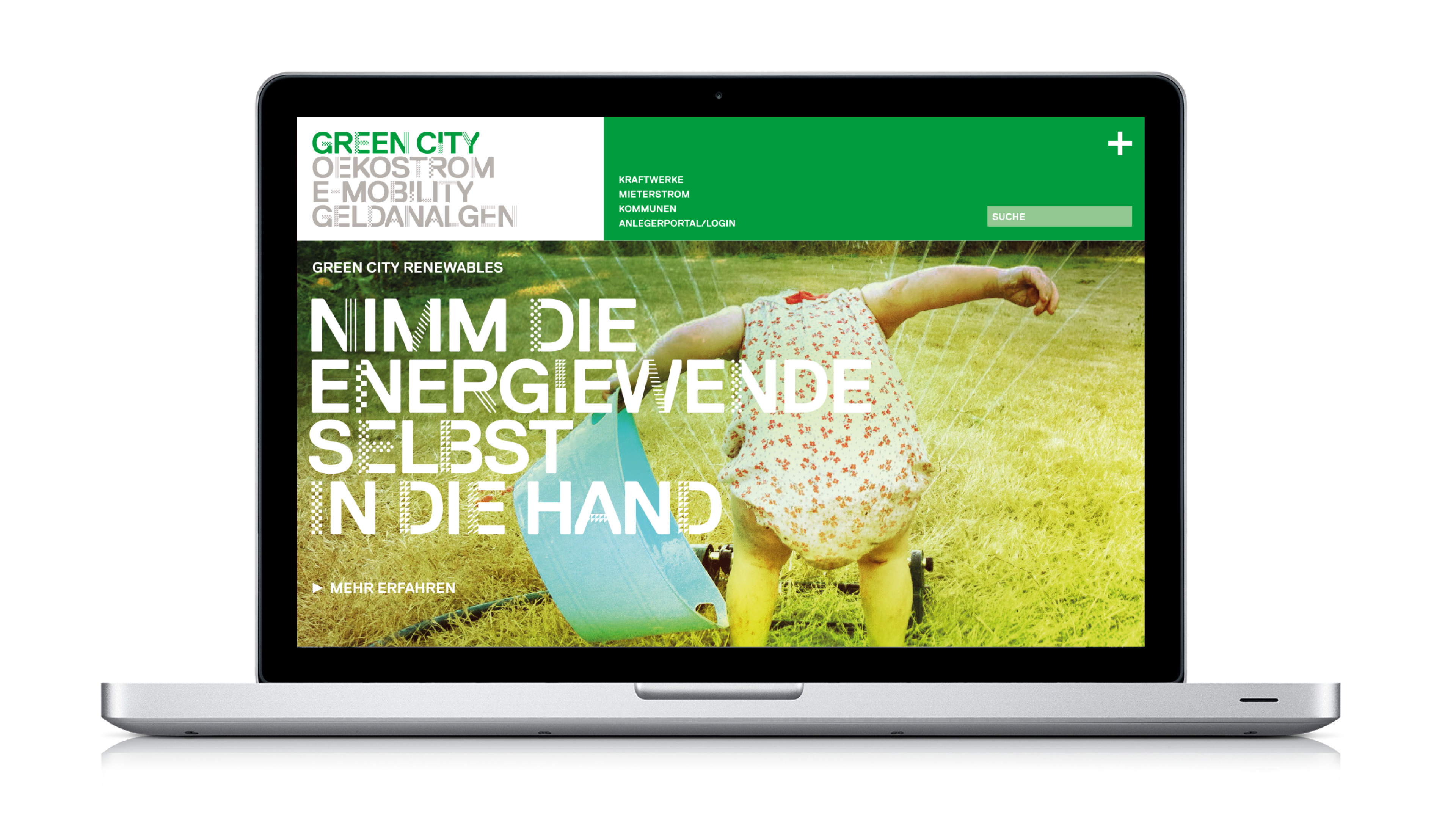 The picture shows the new website of green city.