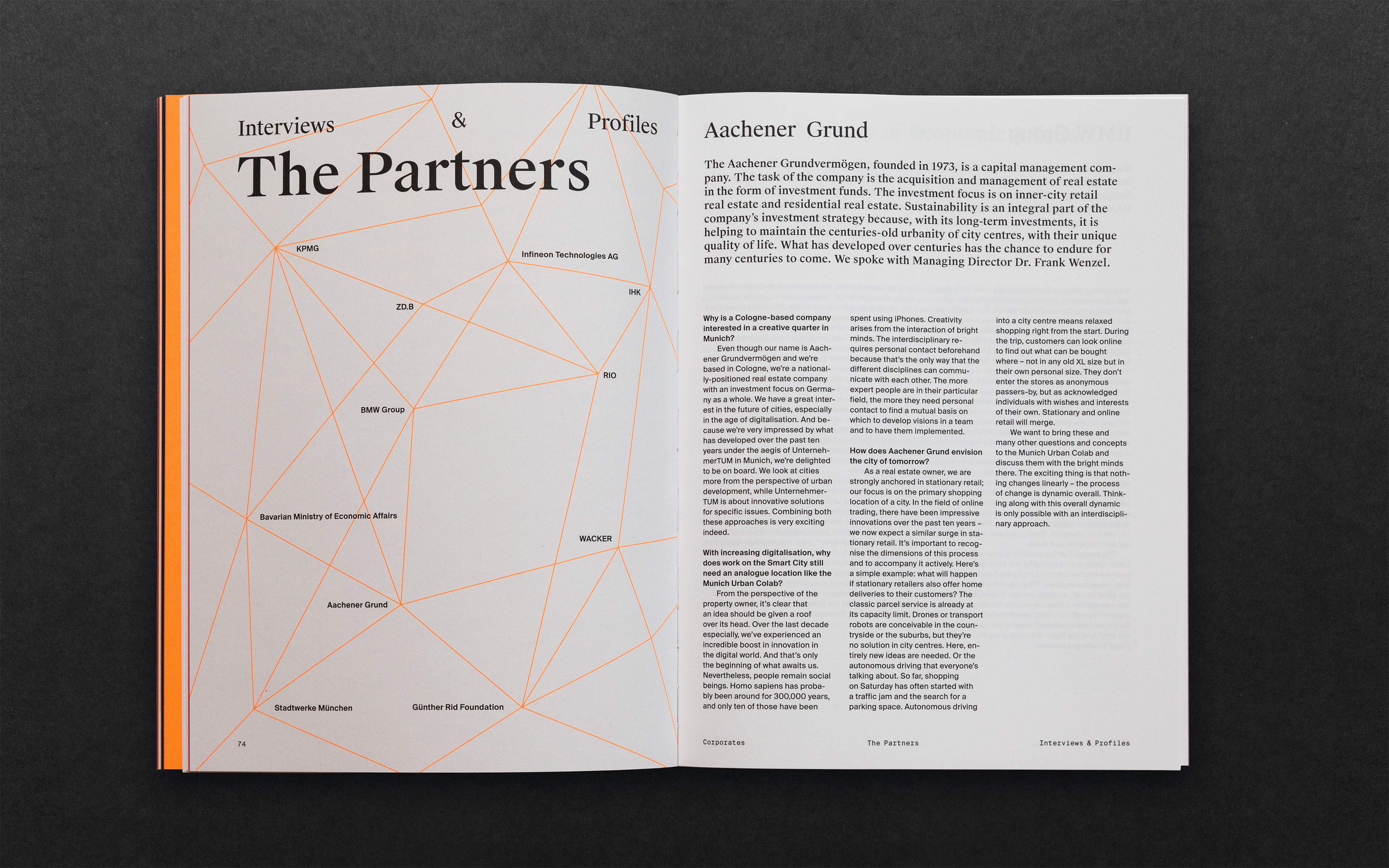 The picture shows an article about the partners of the Munich Urban Colab.